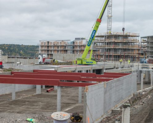 1st floor support installation, Tonsberg Norway