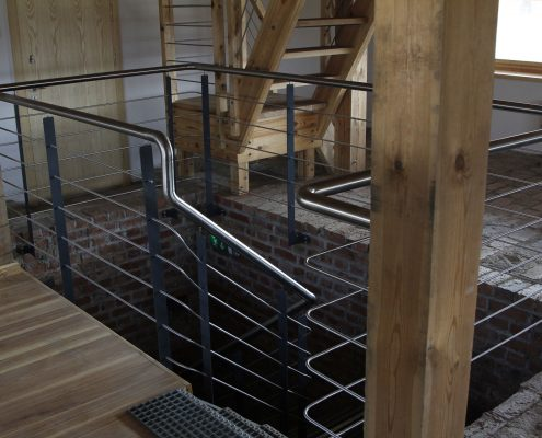 Stainless steel staircase from private house