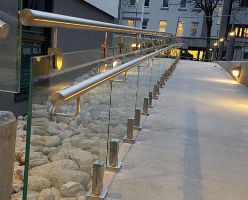 Glass handrails in Norway