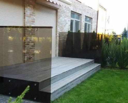 Side glass handrails
