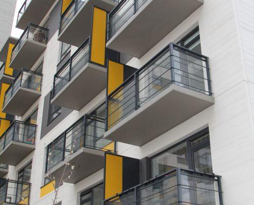 Apartment balcony handrails