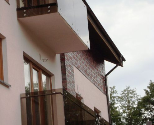 Private house balcony handrails