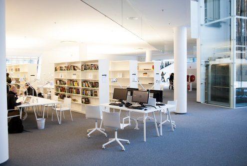 Public library interior work