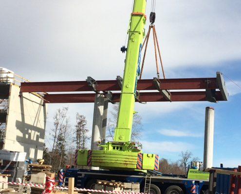 Beam installation works, Tonsberg Norway