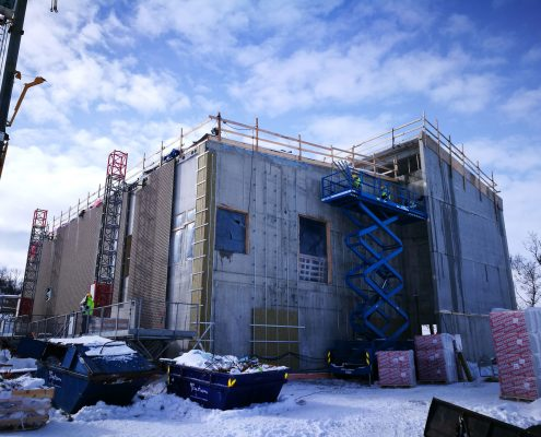 Wall insulation work, Tronso Norway