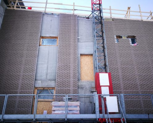 Installed brick panel, Tronso Norway