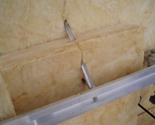 Insulation installation in detail