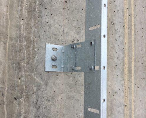 Wall mounted bracket in detail
