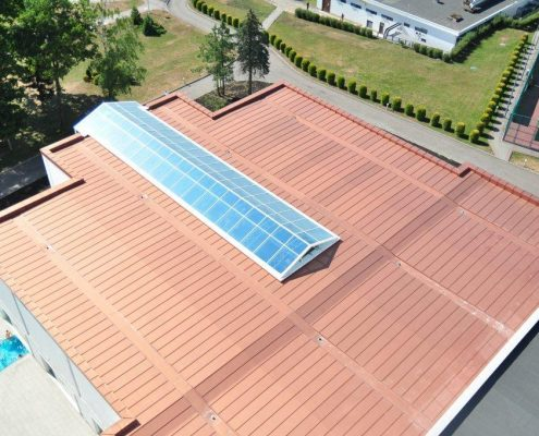 PVC roof for the hotel SPA center
