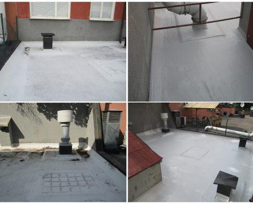 Non usable terrace waterproofing, Sweden