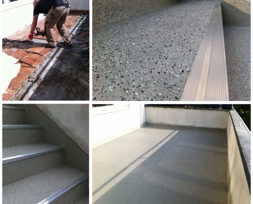 Waterproofing private house terrase and stairs, Sweden